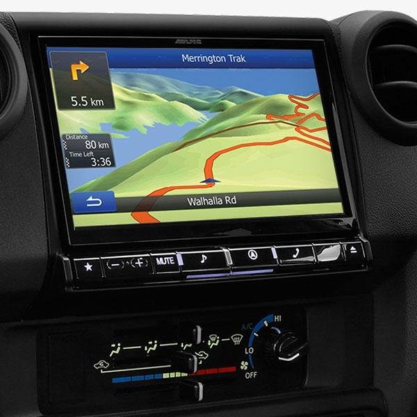 Toyota 70 Series Landcruiser Alpine X009E-U 9″ Navigation Solution