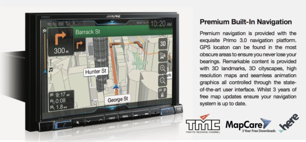 "Alpine MERCEDES-X208AU 8"" Navigation/Apple CarPlay/Android Auto/HiRes Audio Station for MERCEDES -"