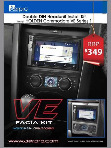 Sneak Peak! Aerpro FP9350BK Holden VE Facia Kit - Sound Garage