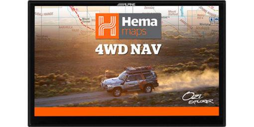 Alpine X902D Navigation with Hema Maps