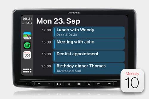 Alpine INE-F409E Halo9 Navi - Apple Calendar