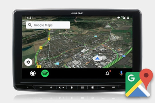 Alpine INE-F409E Halo9 Navi - Google Maps, user friendly