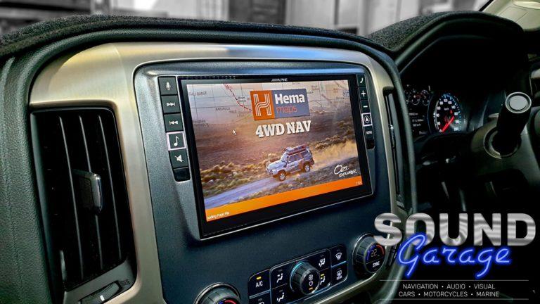 "2019 GMC Denali - Alpine X902D-U 9"" Hema Navigation in custom facia"