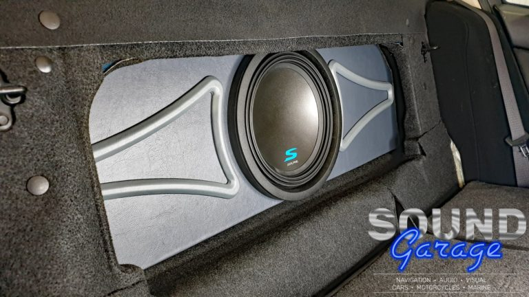 """Ford FG Falcon - Custom Subwoofer Enclosure with Alpine S-Series 12"""" Subwoofer"""