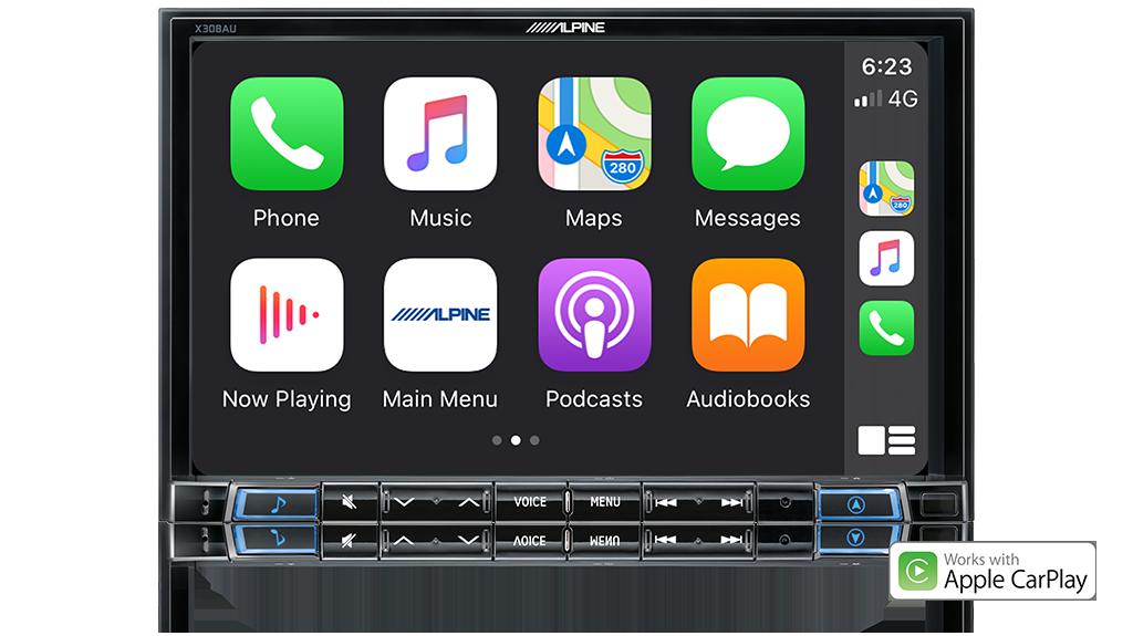 Alpine MAZDA BT50-X308-AHU 8-inch Navigation/Apple CarPlay/Android Auto Receiver -